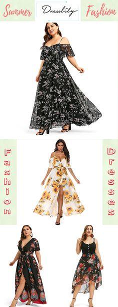 7242225d3f1 Plant Print Plus Size Cold Shoulder Dress