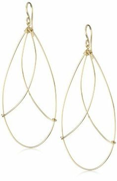 """Viv """"Geometric"""" 14k Gold Fill Teardrop Hoop Earrings Viv $98.00. Each hoop is made by hand and may vary slightly in size and shape. Store in our fabric jewelry pouch to protect from tarnishing. Each Viv & Ingrid geometric hoop is shaped by hand in our Berkeley, CA studio. Every pair comes with our signature fabric jewelry pouch!. Made in United States"""