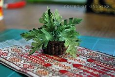 In the Court of the Gypsies: Humble Beginnings - A Dollhouse Miniature Basket Tutorial