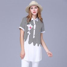 XN6551 XL-5XL 2016 Camisa Feminina Плюс Размер Летний Новый Шифон Рубашки…