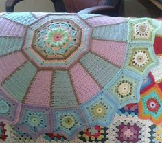 """Parts 1 - 3 ~ CAROUSEL BLANKET CAL  2016 (Sept - Nov) - By Designer Sue Pinner - Free Crochet Pattern - In US & UK Terms, and also in German and Dutch. PATTERN Available on Stylecraft Yarn's CAL Page. You may use the Designer's colors or your own. **Make sure to join the Facebook Group """"Official Stylecraft Sue Pinner CAL"""" (link on the Ravelry page also) for help, ideas, support, so much more! It's a great Group with wonderful people!"""