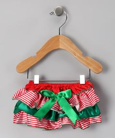 Take a look at this Green & Red Stripe Bloomers - Infant & Toddler by Tutu AND Lulu on #zulily today!