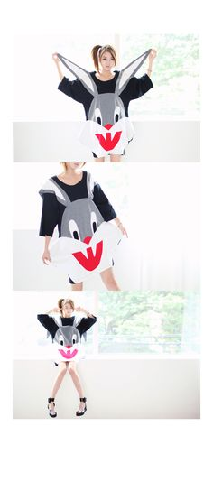 Vampire Bugs Bunny Dress with Floppy Ears