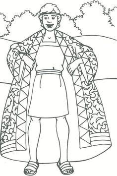 coloring pages joseph and the coat of many colors - Google Search