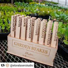 #madeinCanada 🇨🇦 on a Trotec laser. Thanks for sharing @eloralaserstudio , these garden stakes look clean cut and beautiful! 🥒🍅🥕🌿 Bonus points for laser cutting your own packaging! 😍 . . . #garden #laserengraved #laserengraving #laseretched #laseretching #lasercutting #lasercut #rayjet #trotec #giftideas #gifts #gardenstake #business #gardening #custom #custommade #lasercutter #laserengraver #design #art #entrepreneur #buildsomething #inspiration #personalizedgifts #maker #crafting…