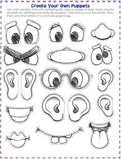 Easy printable kid activity: make a face and explore emotions | my ...