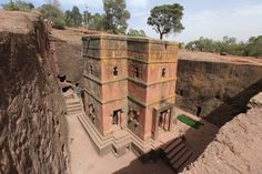 St. George Orthodox Church - Lalibela Ethiopia 12/13th CE (2121  1414) Rock-Hewn Church carved out of Volcanic Tuff