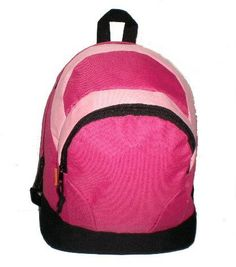 Kids Backpack 14X11X6' Hot Pink/Pink. (50 Pieces) - 14' Childrens Backpack- Hot Pink/Pink Material: 600D Polyester Dimension: 14'X11'X6' Color: Hot Pink/Pink Description: * A Double Zipper Large Main #Yoda #Backpack