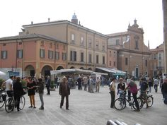 La piazza centrale, Bagnacavallo (RA)