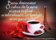 Buna dimineata Buna dimineata ! O cafea de la mine si ceva in plus, o imbratisare, un zambet si un gand bun! Love Good Morning Quotes, Good Morning Coffee, Goog Morning, Romantic Couple Hug, Romantic Couples, Clara Alonso, Flower Wallpaper, Christmas Snowman, Quote Of The Day