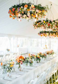 Moving onto floral chandeliers! Have you ever seen anything so lush and colorful?
