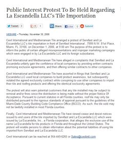 Why trust a 25 year old company that tried to sell tiles without State certification and approval?  #Escandella #tile #clay
