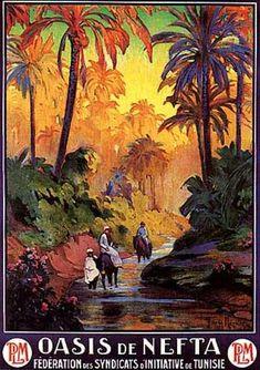 Oasis de Nefta by de la Neziere (1910)