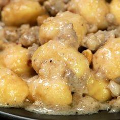 Gnocchi con crema di stracchino, salsiccia e noci - вкусняшки) - Gnocchi con crema di stracchino, salsiccia e noci