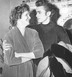 JAMES and Broadway actress Geraldine Page =1954