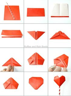 Make This Adorable Origami Heart Bouquet Or Garland
