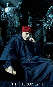 The Hierophant - Bohemian Gothic Tarot by Alex Ukolov, Karen Mahony Dario Fo, The Hierophant, Online Tarot, Tarot Major Arcana, Tarot Learning, Tarot Card Meanings, High Priest, Title Card, Oracle Cards