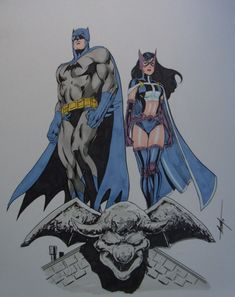 Batman and Huntress by MC Wyman