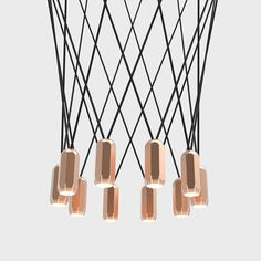 Brixton Cluster Suspension by Innermost Hall Lighting, Copper Lighting, Modern Lighting Design, Interior Lighting, Brixton, Commercial Interiors, Residential Architecture, Pendant Lamp, Design Projects