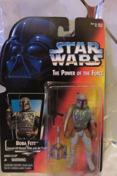 """1995 STAR WARS The Power of the Force: BOBA FETT 3.75"""" Action Figure New in Pkg. #Kenner"""