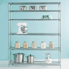Metro® Commercial Shelving is the original chrome-plated steel shelving used professionally in restaurant kitchens and supply rooms. At The Container Store