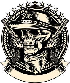 Skull And Guns Skull Logo, Skull Art, Dream Tattoos, Body Art Tattoos, Monkey Art, Skull Pictures, Game Logo Design, 3d Cnc, Gun Art