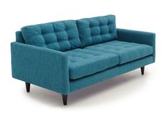 Tyler Loveseat in Lucky Turquoise