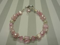 Baby Pink Freshwater Pearls Bracelet with by urbaneprincess, $16.00