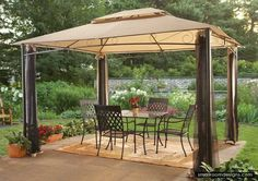Decorating Your Stunning Backyard With Hardtop Gazebo Design - http://www.smallroomdesigns.com/small-bedroom-design/decorating-your-stunning-backyard-with-hardtop-gazebo-design.html