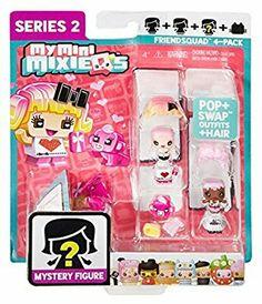 MMMQ series 2 Friend Squad 4-pack My Mini Mixieqs, Shopkins, Toys For Girls, Tins, Kids Bedroom, Squad, Fun Stuff, Cube, Packing