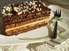 Prajitura cu nuca si foi de napolitane cu caramel - Rețete Merișor