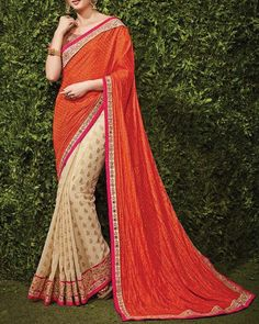 Celebrate the season of #Festival in these pretty shade of Pink and orange. Buy Designer Sarees Here: http://www.simaayafashions.com/viscose-diwali-special-saree-sspa3306.html #Ethnic #Traditional #OnlineShopping