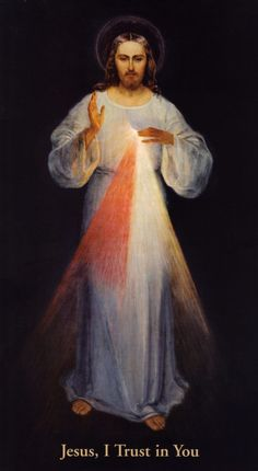 High Resolution Restored Vilnius Divine Mercy Image. The original painting that St. Faustina had drawn.