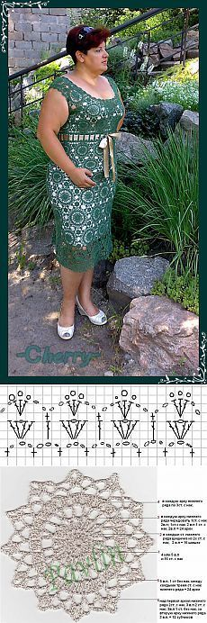 dress is connected from a fine cotton of a hook No. the Full expense The pad is sewed from scheme after a photo - on a binding of a mouth and an armhole, a dress bottom - at will. Crochet Wool, Filet Crochet, Crochet Motif, Diy Crochet, Crochet Patterns, Crochet Skirts, Crochet Blouse, Crochet Clothes, Formal Dresses For Weddings