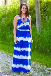 Island Time Tie-Dye Maxi - Royal | #ShopMissChic