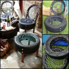 Getting rid of old tires is a huge problem. Regardless of this reality there are lots of tires that end up in the dumps. This shouldn't be the case when there are so many ways to transform them. These chairs are perfect examples! Want more ideas on how to repurpose tires? Then view the full collection on our site at http://theownerbuildernetwork.co/urbj
