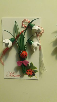 Quilling Cards, Paper Quilling, Baba Marta, Paper Flowers, 2d, Diy And Crafts, Kindergarten, Easter, Decoration