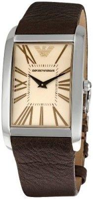 5b423638eee Relógio Emporio Armani Men s AR2032 Rectangular Amber Dial Watch  Relogios   EmporioArmani