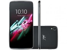 "Smartphone Alcatel OneTouch Idol 3 16GB 4G - Câm. 13MP + Selfie 5MP Tela 4.7"" Proc. Quad Core"