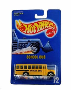 MOC 1990 Hot Wheels Blue Card Collector #72 Yellow School Bus 1795 Speed Points  | Toys & Hobbies, Diecast & Toy Vehicles, Cars, Trucks & Vans | eBay!