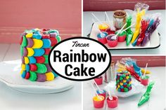 This Rainbow tin-can cake is super festive! Catch that pot of gold at the end of it! Cake In A Can, Pot Of Gold, St Patricks Day, Tin, Sweet Treats, Easy Meals, Birthday Cake, Tasty, Rainbow