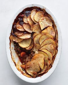 Cottage Pie - Martha Stewart Recipes. I make this with ground turkey.  Delicious and makes the house smell so good!