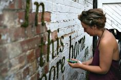 Moss graffiti..I can't even.