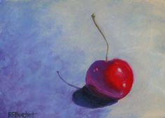 """The Drinks I Like Have Cherries...  """"cherry Amour"""", Pastel, 7""""x5"""""""