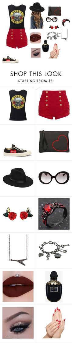 """""""London summer"""" by magicisinyourheart ❤ liked on Polyvore featuring Miss Selfridge, Pierre Balmain, Converse, Gum by Gianni Chiarini, Lack of Color, Prada, Zadig & Voltaire, XOXO, Alexander McQueen and Piggy Paint"""