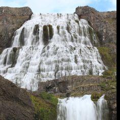 Dynjandi Waterfalls in Iceland.  #Iceland #waterfalls #Dynjandi