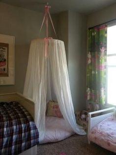 Hula Hoop Tent Tutorial Using Pink Or Lavender Tulle
