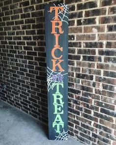 6FT Trick or Treat Porch Sign