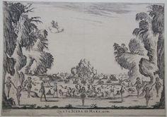 """Quarta Scena di Mare (1637), etching by Stefano della Bella (1610-1654), of the set design by Alfonso Parigi [the Younger] (1606-1656), for Scene 4 of """"Le nozze degli Dei"""" (1637), by Marco da Gagliano (1582-1643)."""