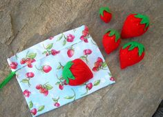Felt Play Food  Strawberries  Set of 5 with by outofmyhead on Etsy, $9.95  https://www.etsy.com/listing/96558638/felt-play-food-strawberries-set-of-5?ref=sr_gallery_29&ga_order=date_desc&ga_view_type=gallery&ga_ref=fp_recent_more&ga_page=18&ga_search_type=all